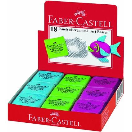 FABER-CASTELL Knetgummi-Radierer ART ERASER, sortiert