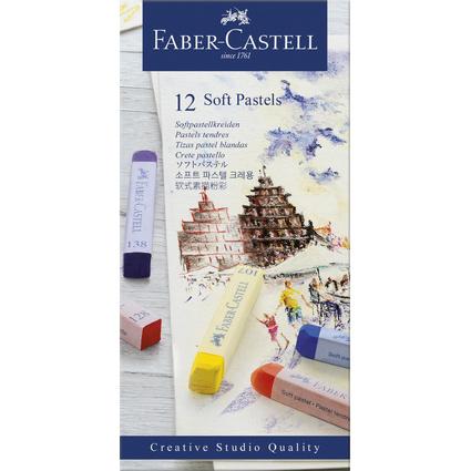 FABER-CASTELL Softpastellkreiden STUDIO QUALITY, 12er Etui