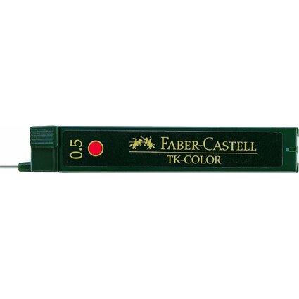 FABER-CASTELL Druckbleistift-Minen TK-COLOR 9085-R, rot