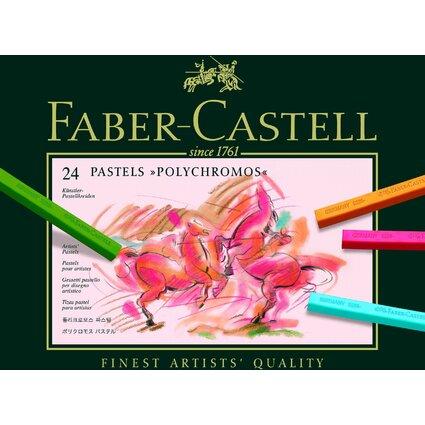 FABER-CASTELL Pastellkreiden POLYCHROMOS, 24er Etui