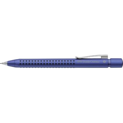 FABER-CASTELL Druckbleistift GRIP 2011, blau-metallic
