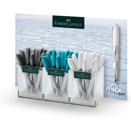 FABER-CASTELL Kugelschreiber n'ice pen, 3er Köcher
