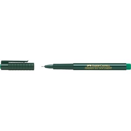 FABER-CASTELL Tintenfeinschreiber FINEPEN 1511, grün