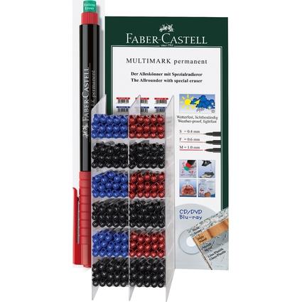 FABER-CASTELL Permanent-Marker MULTIMARK, Turmdisplay