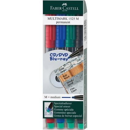 FABER-CASTELL Permanent-Marker MULTIMARK M, 4er Etui