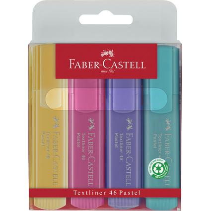 FABER-CASTELL Textmarker TEXTLINER 1546 pastell, 4er Etui