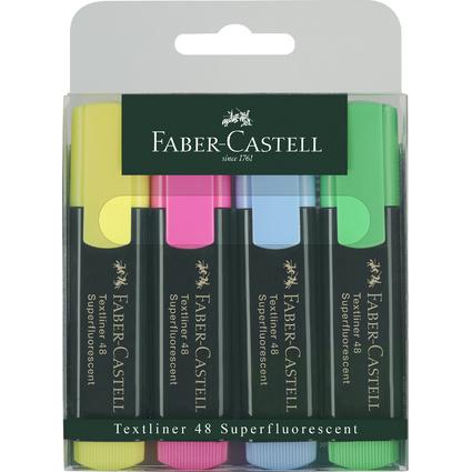 FABER-CASTELL Textmarker TEXTLINER 48 REFILL, 4er Etui