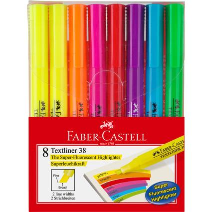 FABER-CASTELL Textmarker TEXTLINER 38, 8er Etui
