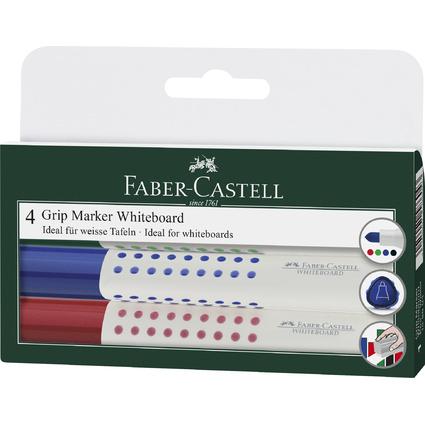 FABER-CASTELL Whiteboard-Marker GRIP, 4er Etui