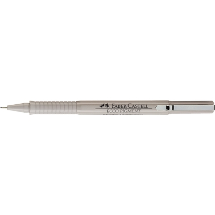 FABER-CASTELL Pigmentliner ECCO PIGMENT 0,7 mm, schwarz