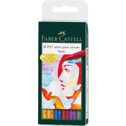 """FABER-CASTELL Tuschestift PITT artist pen, Etui """"Basic"""""""