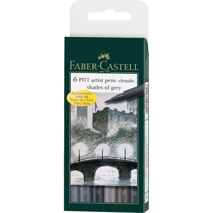 """FABER-CASTELL Tuschestift PITT artist pen, Etui """"Shades of"""