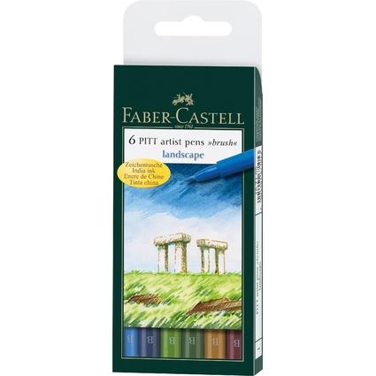 """FABER-CASTELL Tuschestift PITT artist pen, Etui """"Landscape"""""""