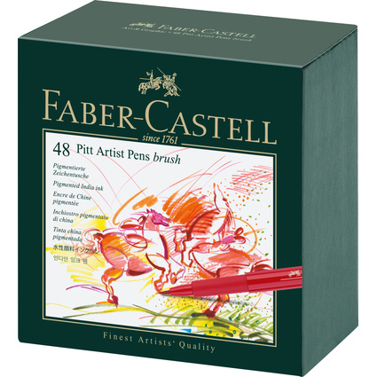 FABER-CASTELL Tuschestift PITT artist pen, 48er Atelierbox
