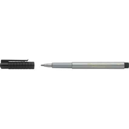FABER-CASTELL Tuschestift PITT artist pen, silber