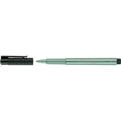 FABER-CASTELL Tuschestift PITT artist pen, grün metallic