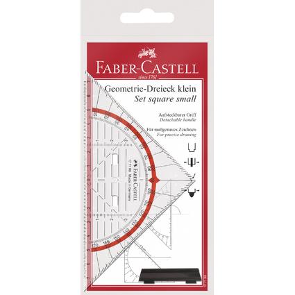 FABER-CASTELL Geodreieck BK 1 klein, mit Griff