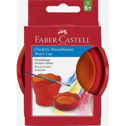 FABER-CASTELL Wasserbecher CLIC & GO, brombeer