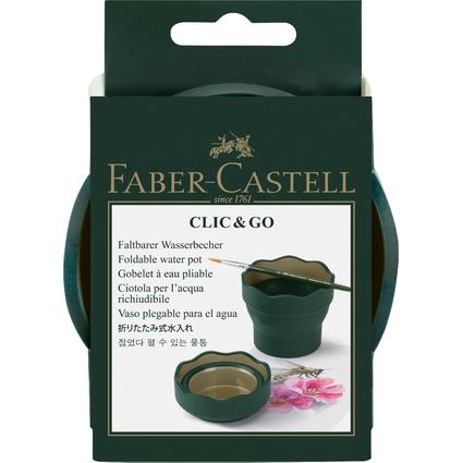 FABER-CASTELL Wasserbecher CLIC & GO, dunkelgrün
