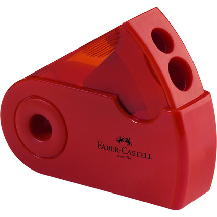 FABER-CASTELL Doppelspitzdose SLEEVE, rot/blau