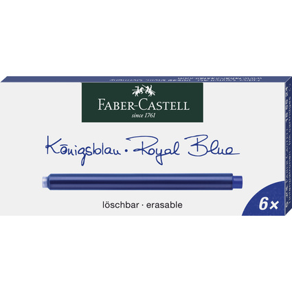 FABER-CASTELL Großraum-Tintenpatronen, königsblau