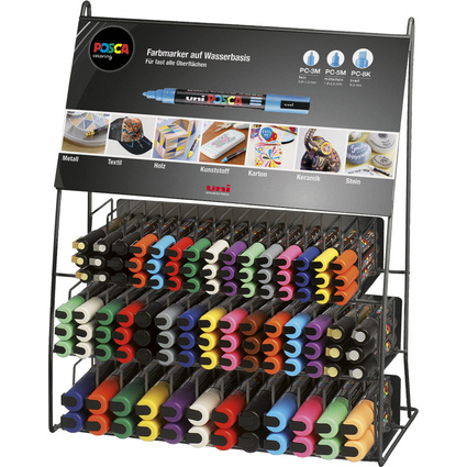 uni-ball Pigmentmarker POSCA, 132er Display