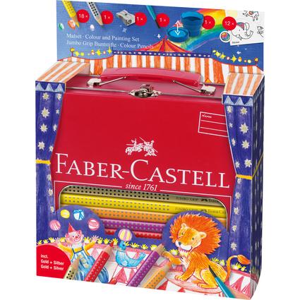 FABER-CASTELL Dreikant-Buntstifte Jumbo GRIP, Set Zirkus