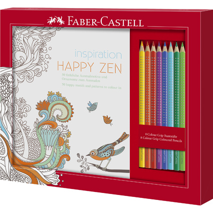 FABER-CASTELL Dreikant-Buntstifte Colour GRIP, Set Happy Zen