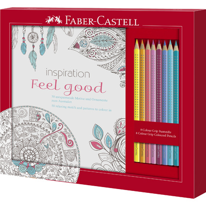 FABER-CASTELL Dreikant-Bunstifte Colour GRIP, Set Feel Good