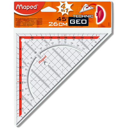 Maped Geodreieck Technic, Hypotenuse: 260 mm