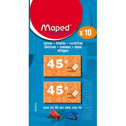 Maped Ersatzklingen für Schneidewerkzeug MatCutter 45 Grad