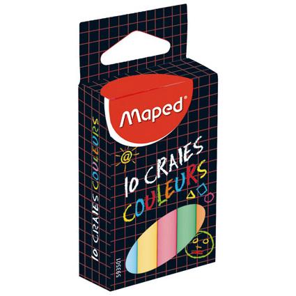 "Maped Wandtafelkreide COLOR""PEPS, rund, farbig sortiert"