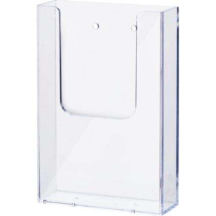helit Wand-Prospekthalter, DIN lang, transparent