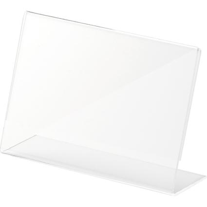 helit Tischaufsteller, Acryl, (B)150 x (H)100 mm, schräg
