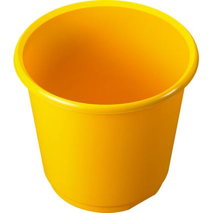 helit Papierkorb Economy, 18 Liter, PP, gelb