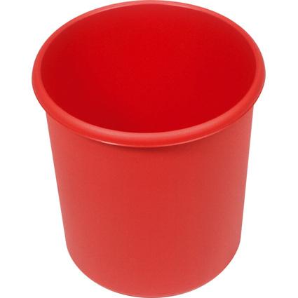 helit Papierkorb Economy, 18 Liter, PP, rot