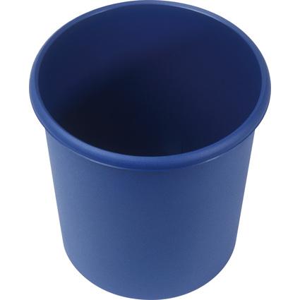helit Papierkorb Economy, 18 Liter, PP, blau