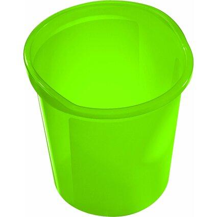 helit Papierkorb Economy Transluzent, PP, grün-transluzent
