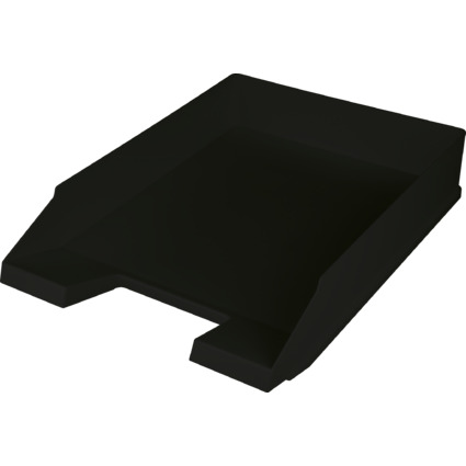 helit Briefablage Economy, DIN A4, Polystyrol, schwarz