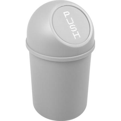 helit Abfalleimer mit Push-Einwurfklappe, 6 Liter