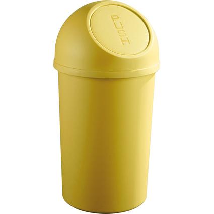 helit Abfalleimer mit Push-Einwurfklappe, 45 Liter, gelb