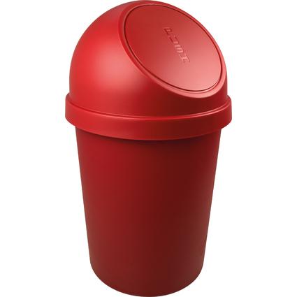 helit Abfalleimer mit Push-Einwurfklappe, 45 Liter, rot