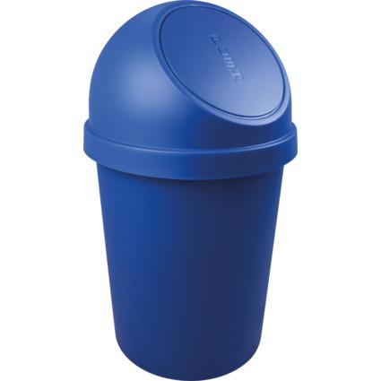 helit Abfalleimer mit Push-Einwurfklappe, 45 Liter, blau