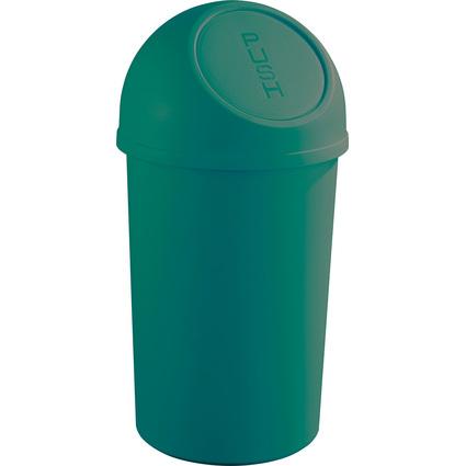 helit Abfalleimer mit Push-Einwurfklappe, 45 Liter, grün