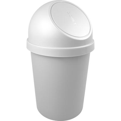 helit Abfalleimer mit Push-Einwurfklappe, 45 Liter