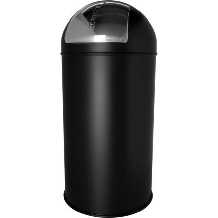 helit Abfalleimer mit Push-Einwurfklappe, 50 Liter