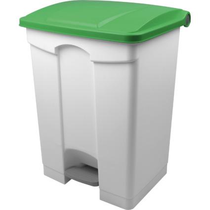 helit Tret-Abfalleimer, 70 Liter, weiß/grün