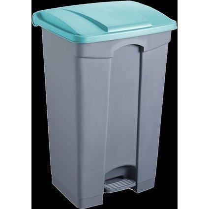 helit Tret-Abfalleimer, 90 Liter, weiß/grün