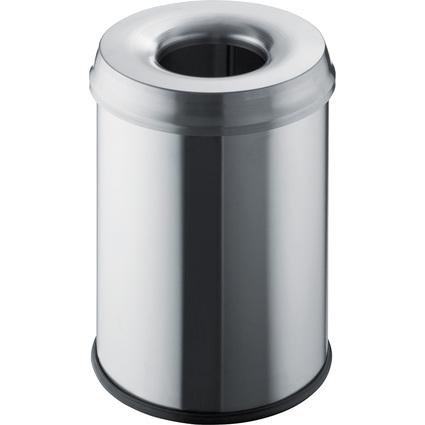 helit Edelstahl-Sicherheits-Abfallbehälter, 15 Liter