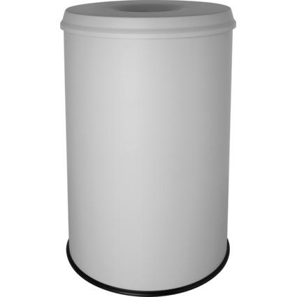 helit Stahl-Papierkorb, mit Flammenlöschkopf, 30 Liter